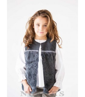 NUECES KIDS GIRLS GREY VEST