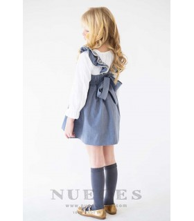 "NUECES KIDS GIRLS BLUE DRESS ""AGATA"""