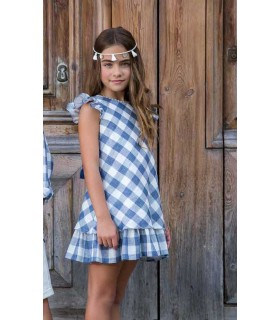 ROCHY GIRLS BLUE DRESS VICHY