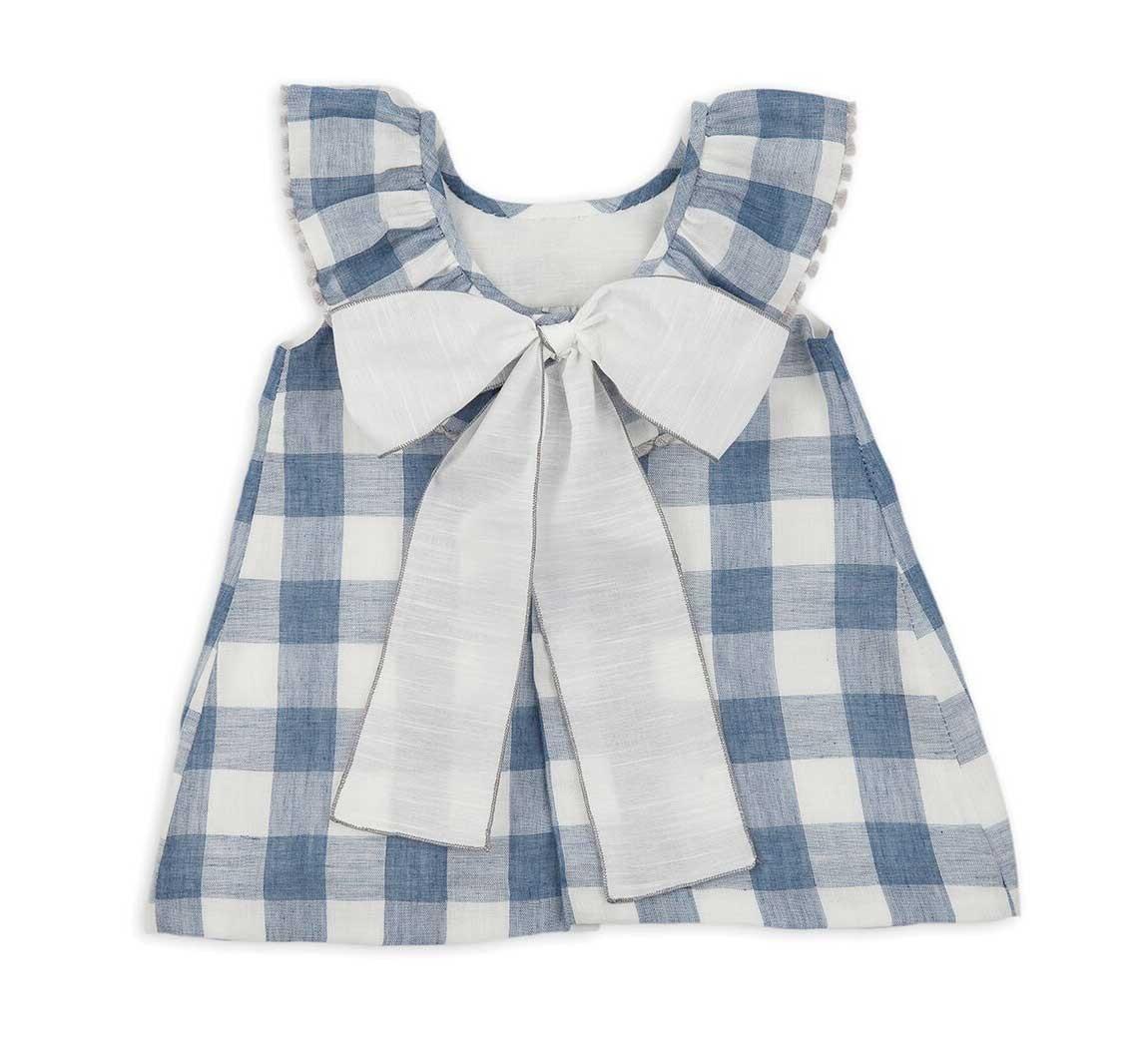 473c919f2 VESTIDO VICHY AZUL NIÑA ROCHY. vestidos para niña online