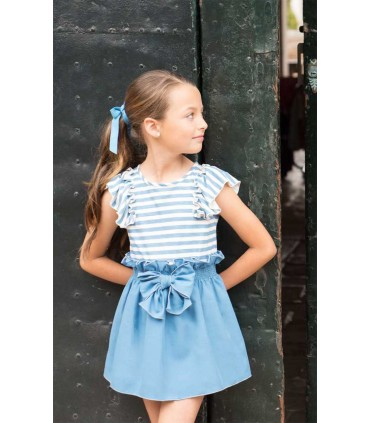 ENSEMBLE PETITE FILLE BLEU FISHER EVE CHILDREN