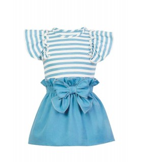 CONJUNTO AZUL NIÑA FALDA FISHER EVE CHILDREN