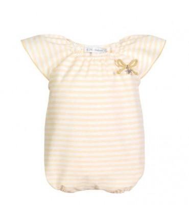 EVE CHILDREN YELLOW BABY GIRL ROMPER AMARELO