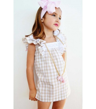 MON PETIT BONBON GIRLS CAMEL DRESS