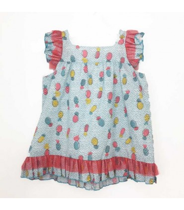 MON PETIT BONBON GIRLS PINEAPLES DRESS