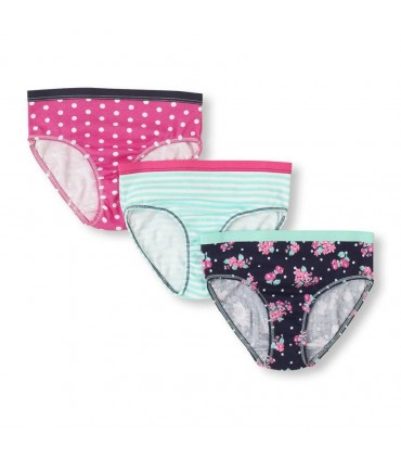 3 Pack Flowers Girls Slips Underwear Pants