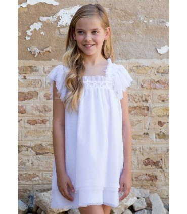 PILAR BATANERO WHITE GIRLS DRESS