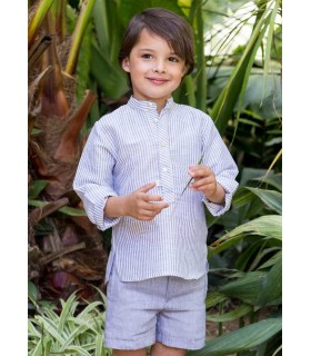 PILAR BATANERO LIGHT BLUE STRIPES BOYS SET