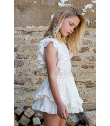 PILAR BATANERO  GIRLS WHITE SET