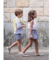 ANCAR GIRLS GREY DRESS PALMS