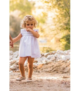 ANCAR BABY GIRL WHITE DRESS