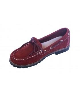 Zapato niño tipo nautico en burdeos