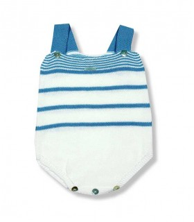 FOQUE BABY BOY BLUE ROMPER LINKS