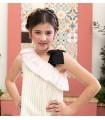 MON PETIT BONBON GOLDEN STRIPES GIRL DRESS