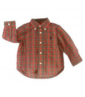 Camisa bebé niño manga larga rojo de Ralph Lauren
