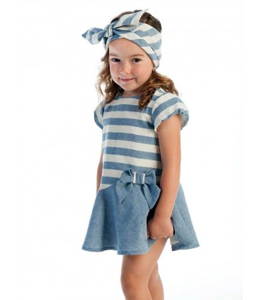 COCOTE GIRLS BLUE STRIPES DRESS