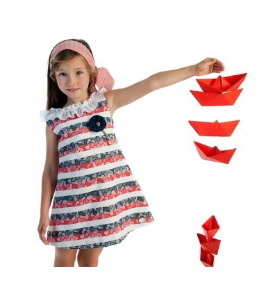 ROBE PETITE FILLE RAYEE COCOTE