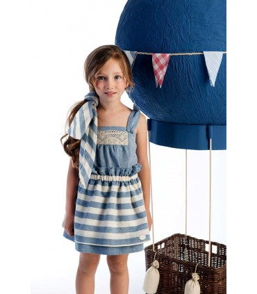 COCOTE GIRLS STRIPES BLUE SET
