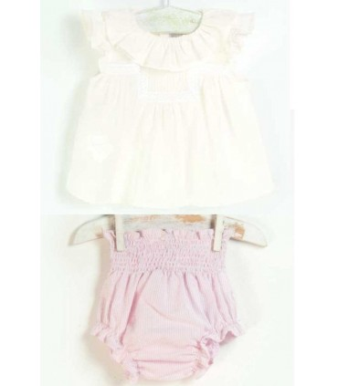 ENSEMBLE BEBE FILLE 2 PIECES JOSE VARON