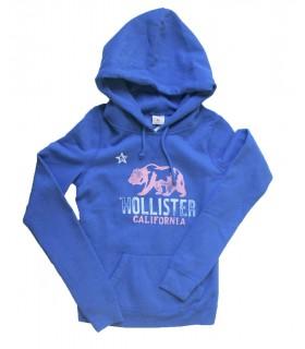 Sudadera con capucha azul Hollister