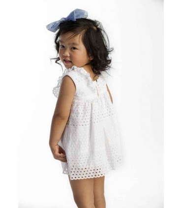 JOSE VARON GIRLS WHITE DRESS