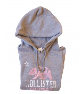 Sweat shirt gris Hollister