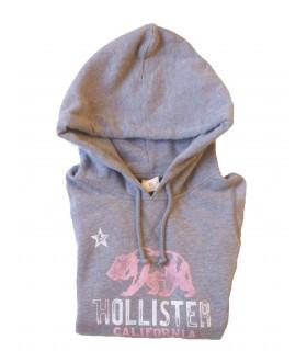 Sudadera con capucha gris de Hollister