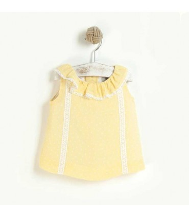 JOSE VARON BABY GIRLS STARS YELLOW DRESS: