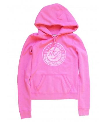 Sudadera con capucha rosa de Hollister
