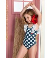 JOSE VARON GIRLS DOTS SWIM SUIT