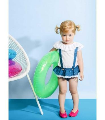 FINA EJERIQUE BABY GIRL BLUE JEANS SET