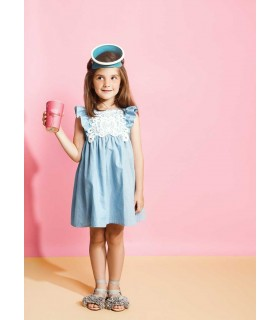 FINA EJERIQUE GIRLS BLUE JEANS DRESS