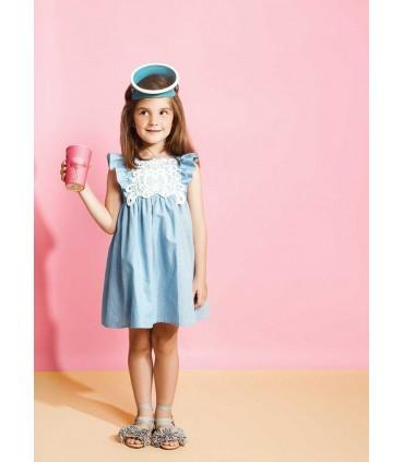 FINA EJERIQUE GIRLS BLUE JEANS DRESS
