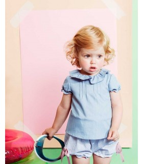 FINA EJERIQUE BABY GIRL BLUE STRIPES SET