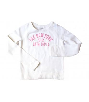 Sudadera niña en blanco Abercrombie & Fitch