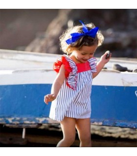 ROBE BLEU ET BLANC BEBE FILLE KIDS CHOCOLATE