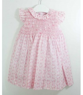 ANCAR GIRLS DRESS PINK RABBITS