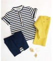 POLO NAVY PETIT GARCON KIDS CHOCOLATE