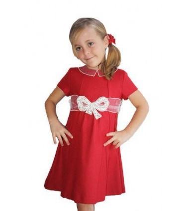 Robe petite fille rouge Fina Ejerique