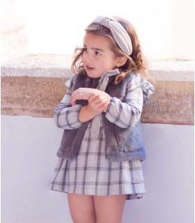 EVE CHILDREN GIRLS CHECKED DRESS MOUNTAIN