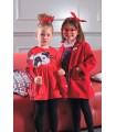 MON PETIT BONBON GIRLS RED DRESS