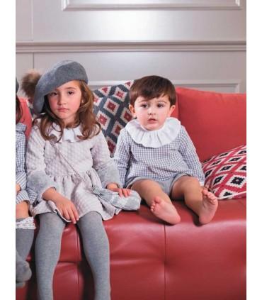 MON PETIT BONBON GREY GIRLS DRESS