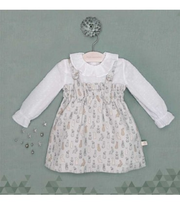 PILAR BATANERO BABY RABBITS DRESS SET