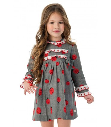 COCOTE LITTLE GIRLS DRESS LADY BUG