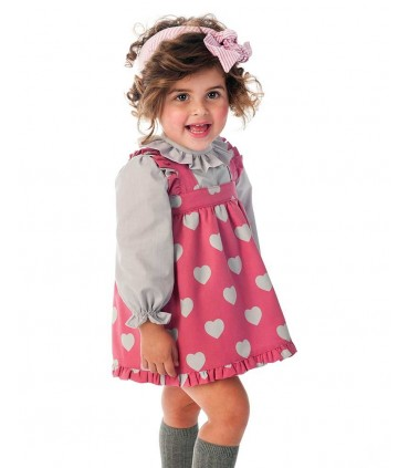 COCOTE BABY GIRL PINK SET HEARTS