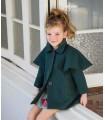 ROCHY GIRLS GREEN CAPE-COAT