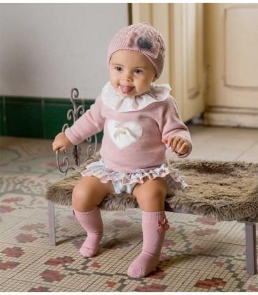 ROCHY BABY GIRL SET NUDE
