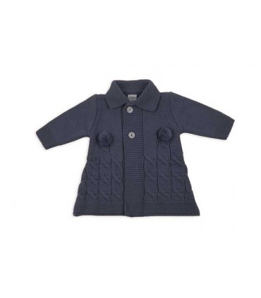 ROCHY BABY NAVY BLUE KNITTED COAT