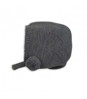 ROCHY BABY NAVY BLUE KNITTED BONNET