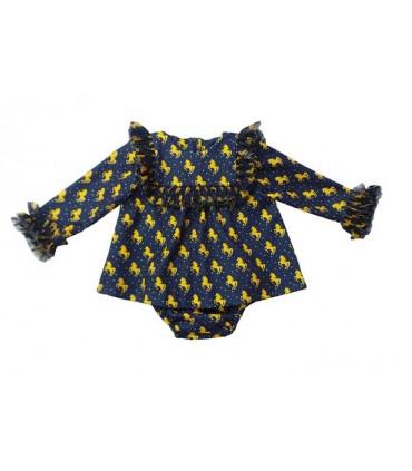 MON PETIT BONBON UNICORNS BABY GIRLS DRESS